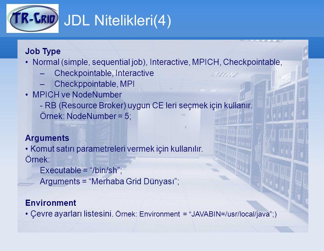 JDL Nitelikleri(4) Job Type