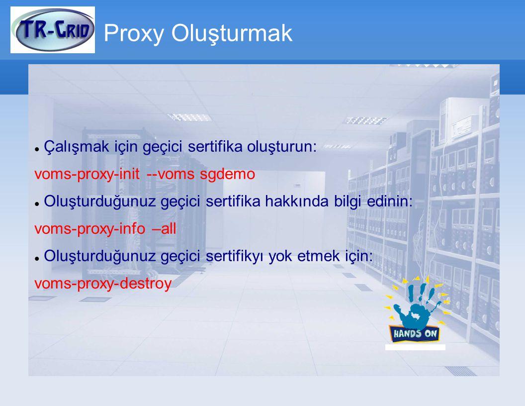 Proxy Oluşturmak Çalışmak için geçici sertifika oluşturun: