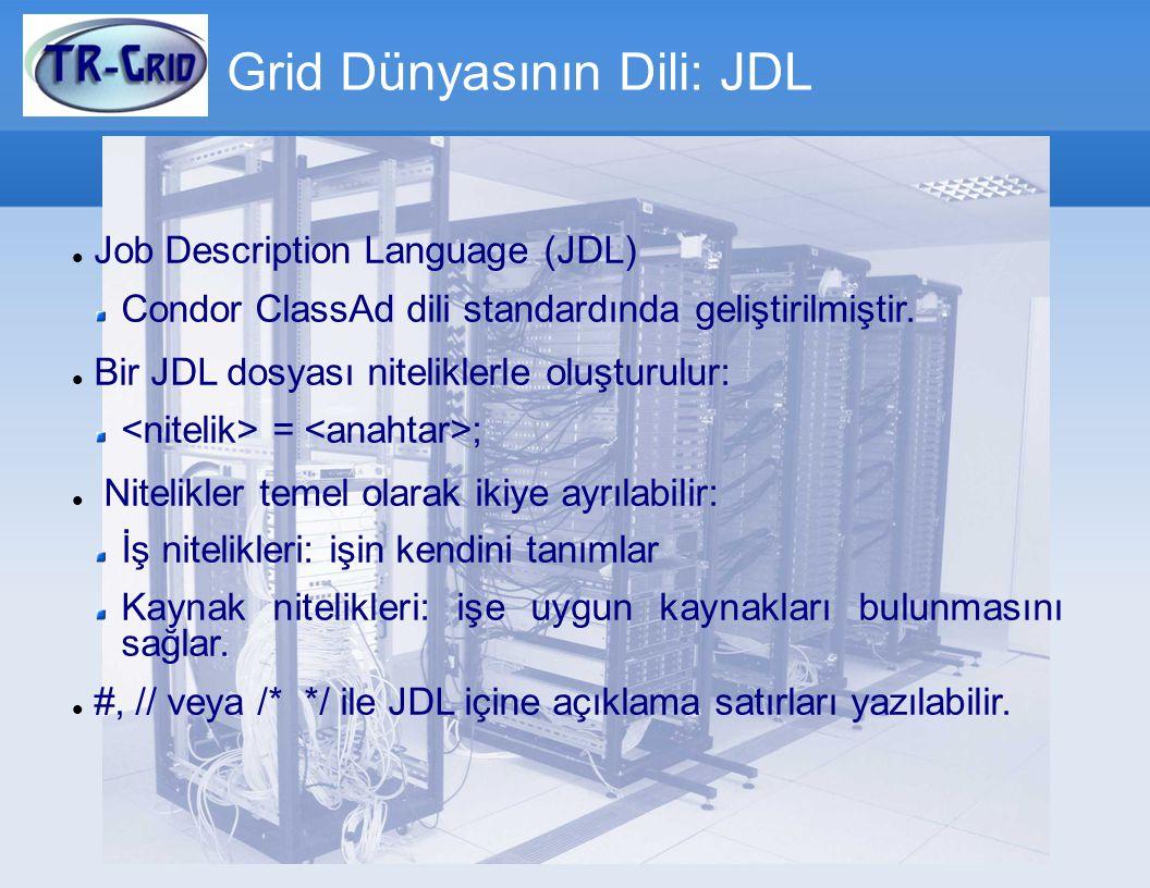 Grid Dünyasının Dili: JDL