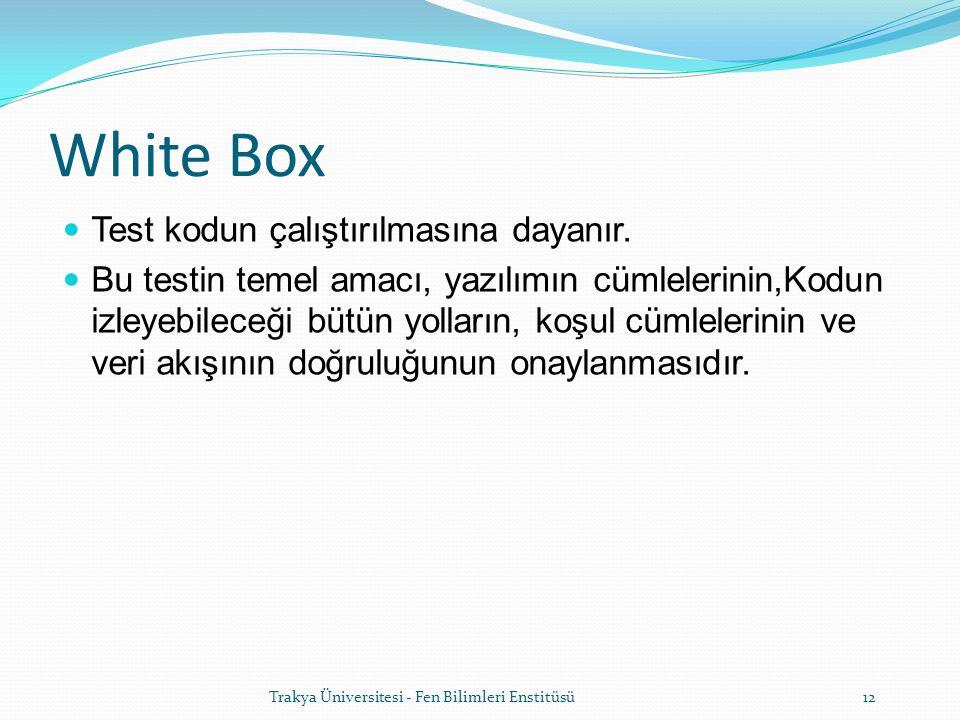 Trakya Üniversitesi - Fen Bilimleri Enstitüsü