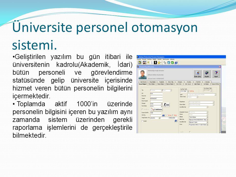 Üniversite personel otomasyon sistemi.