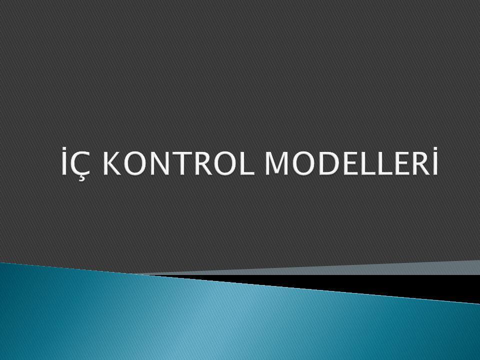İÇ KONTROL MODELLERİ