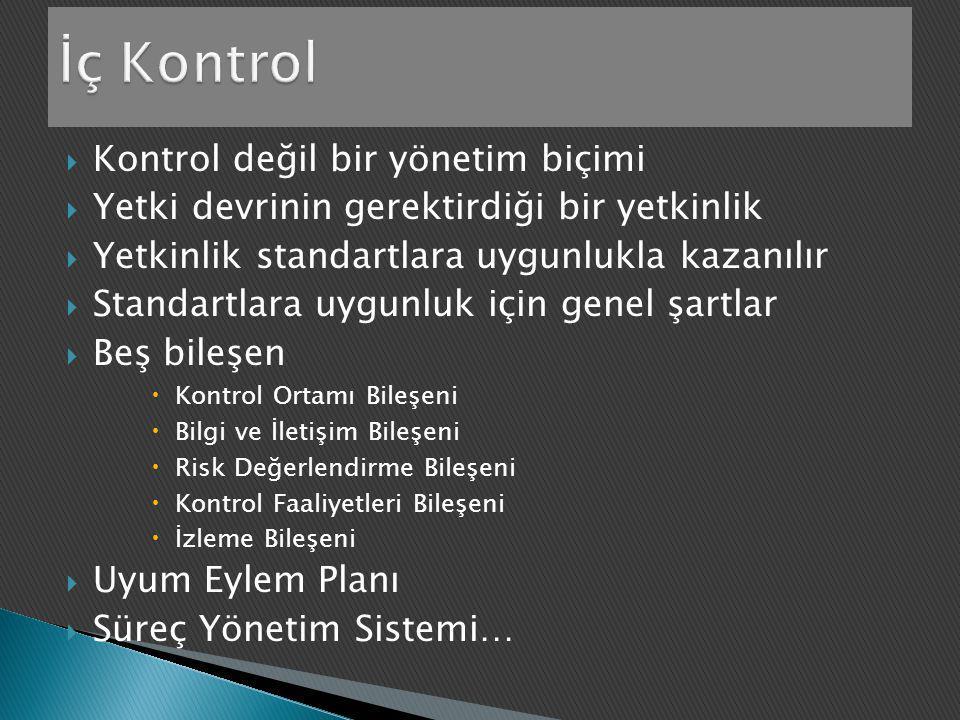 İç Kontrol Kontrol değil bir yönetim biçimi