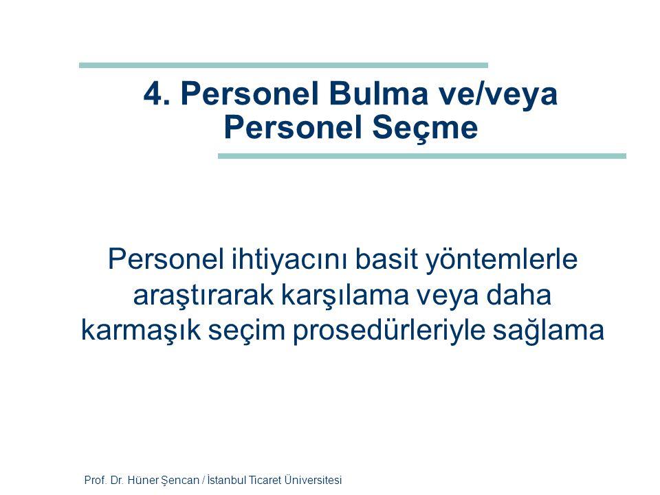 4. Personel Bulma ve/veya Personel Seçme