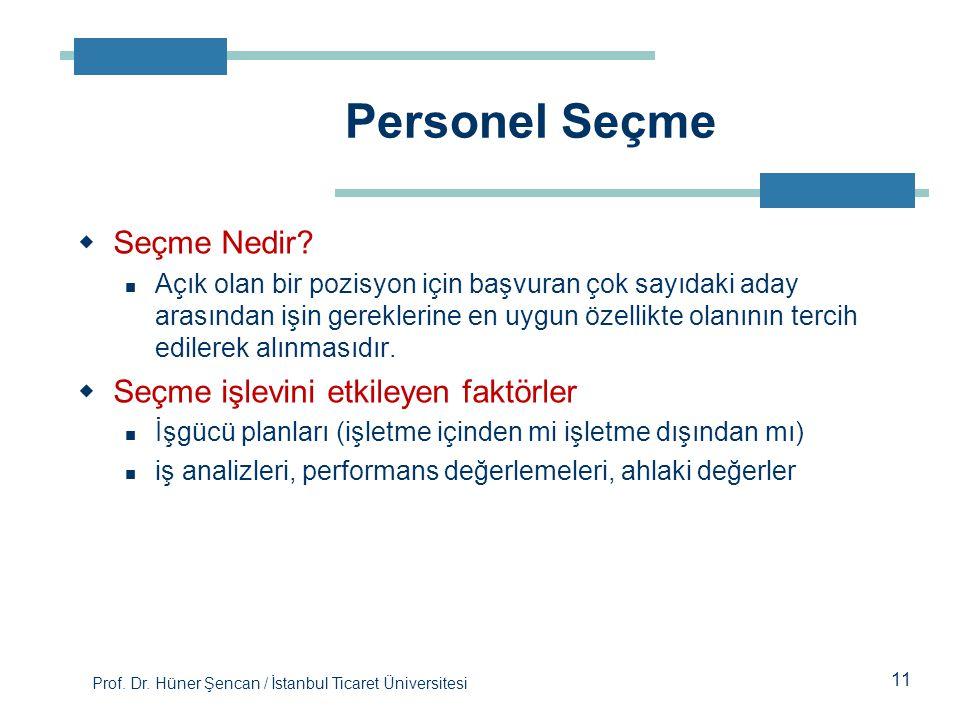 Personel Seçme Seçme Nedir Seçme işlevini etkileyen faktörler