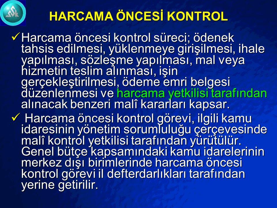 HARCAMA ÖNCESİ KONTROL