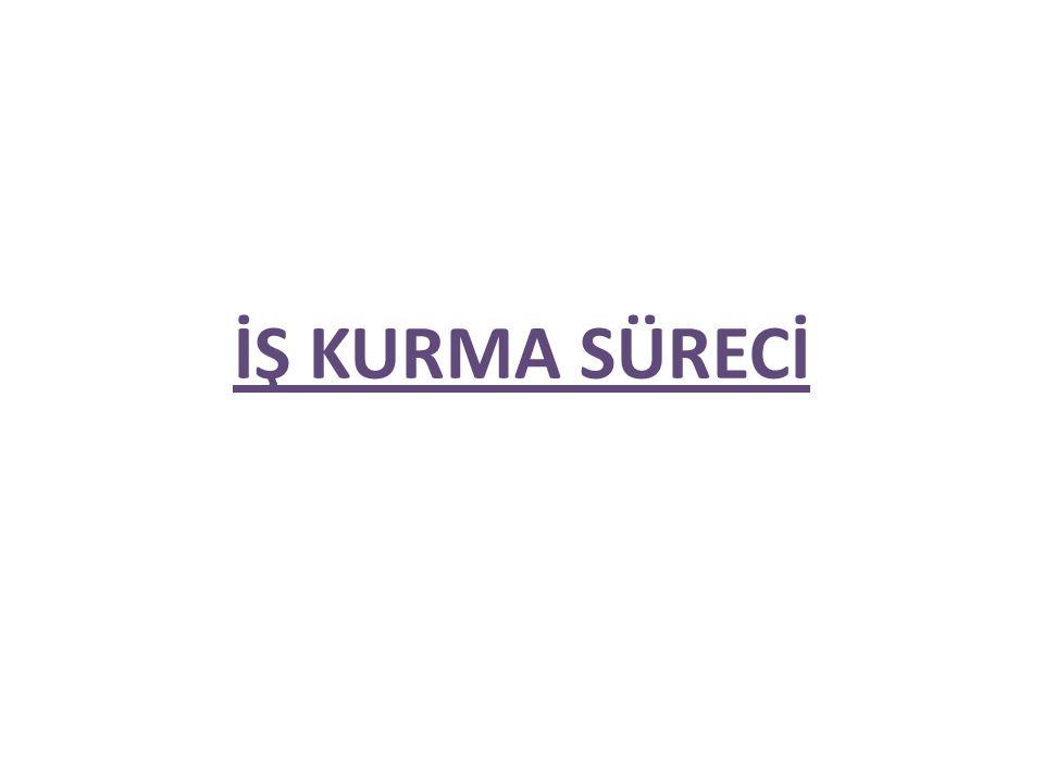 İŞ KURMA SÜRECİ