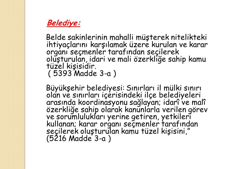 Belediye: