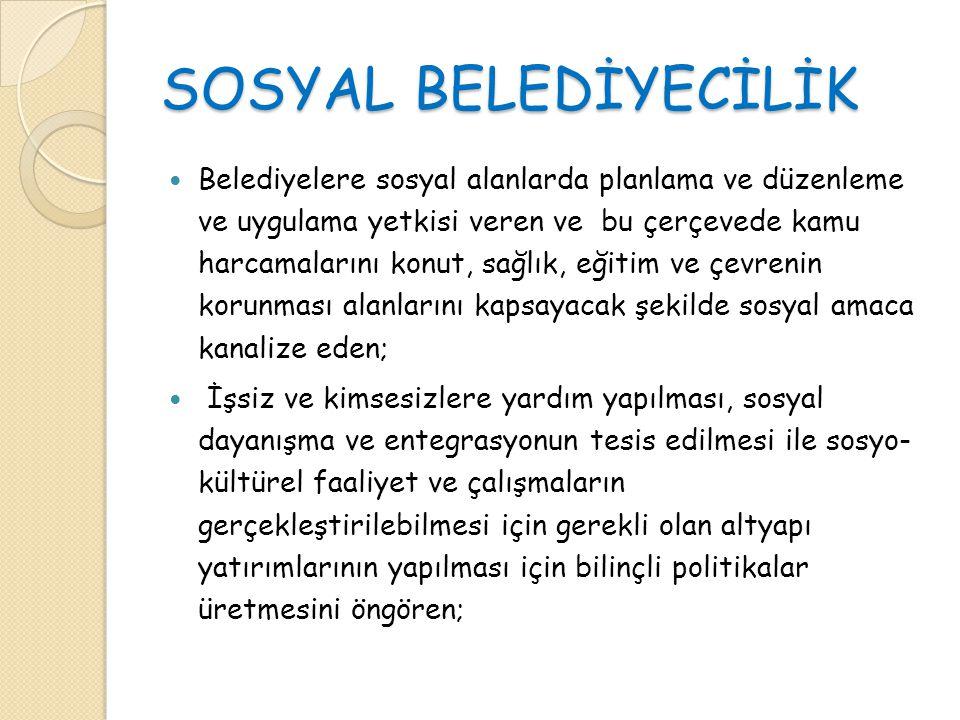 SOSYAL BELEDİYECİLİK