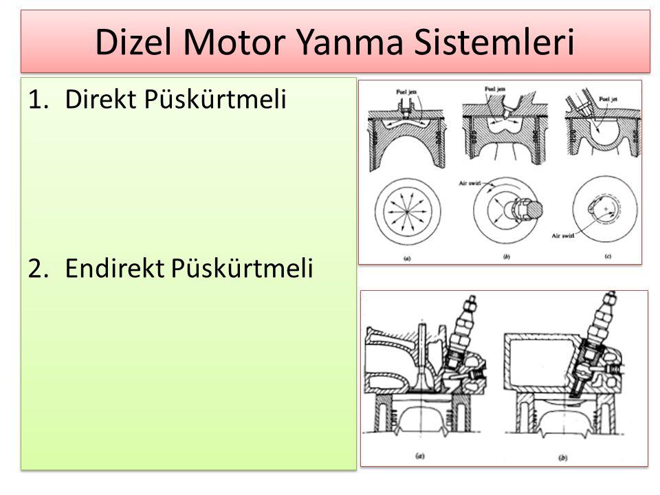 Dizel Motor Yanma Sistemleri