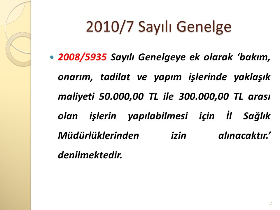 2010/7 Sayılı Genelge
