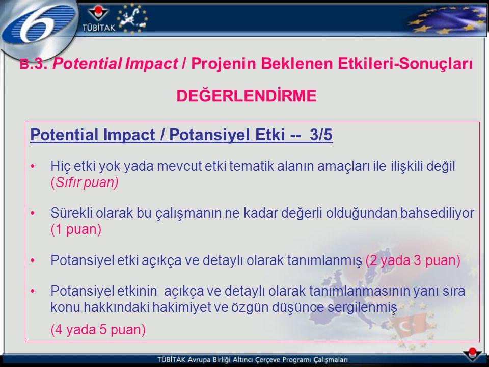 Potential Impact / Potansiyel Etki -- 3/5