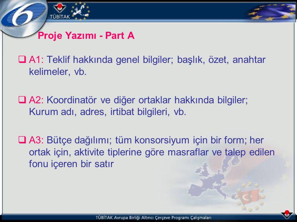 Proje Yazımı - Part A A1: Teklif hakkında genel bilgiler; başlık, özet, anahtar kelimeler, vb.