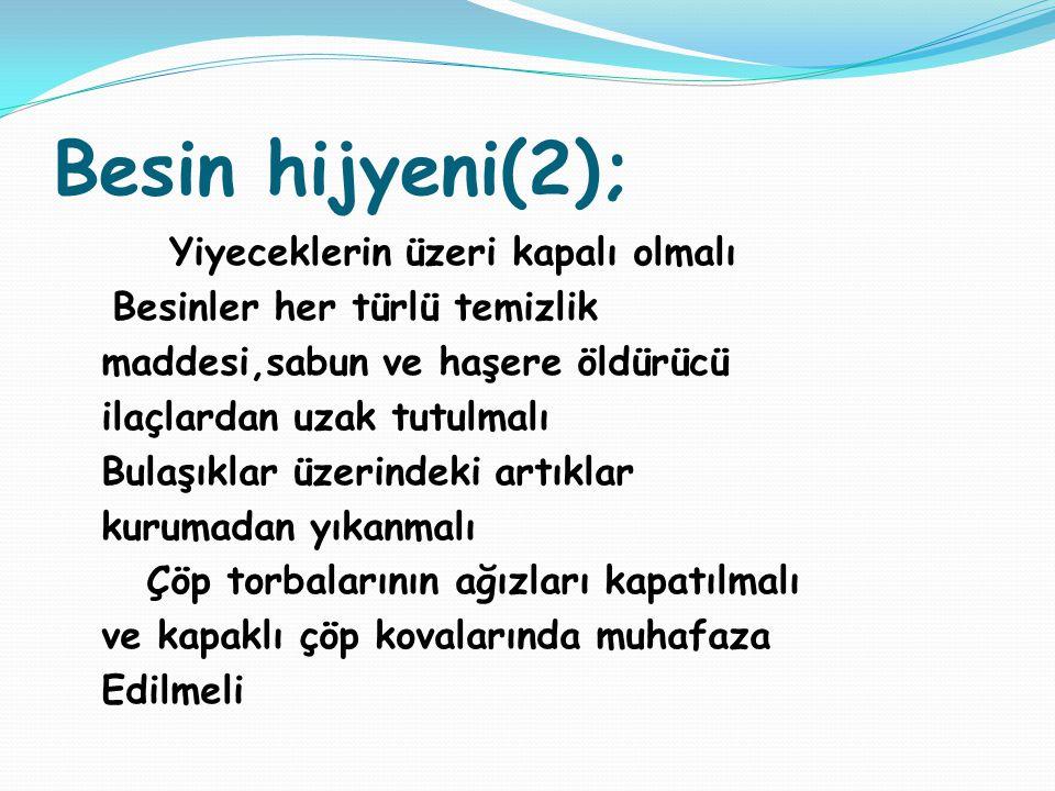 Besin hijyeni(2);