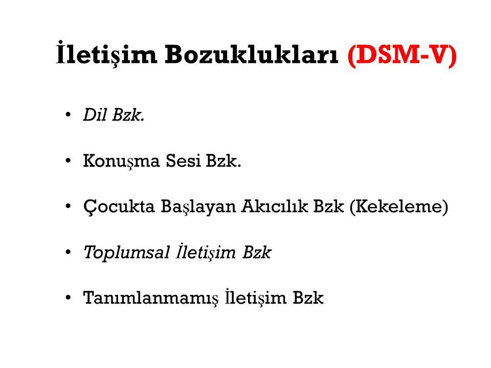 İletişim Bozuklukları (DSM-V)