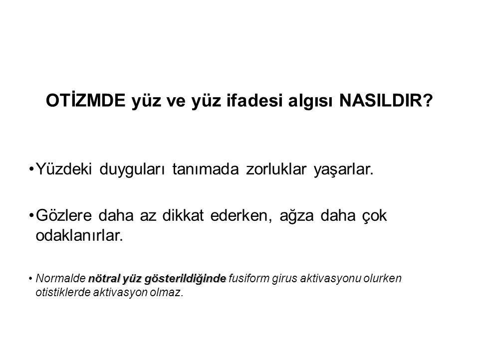 OTİZMDE yüz ve yüz ifadesi algısı NASILDIR