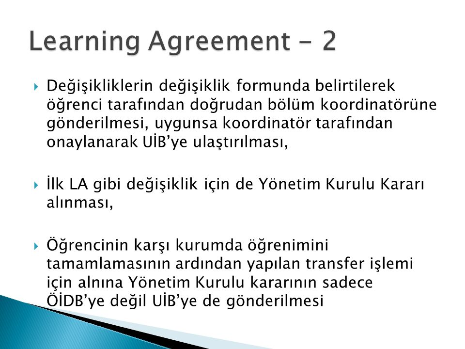 Learning Agreement - 2