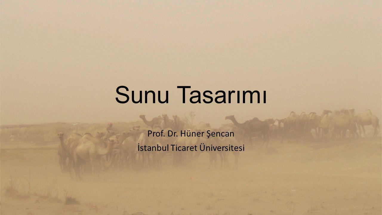 Prof. Dr. Hüner Şencan İstanbul Ticaret Üniversitesi