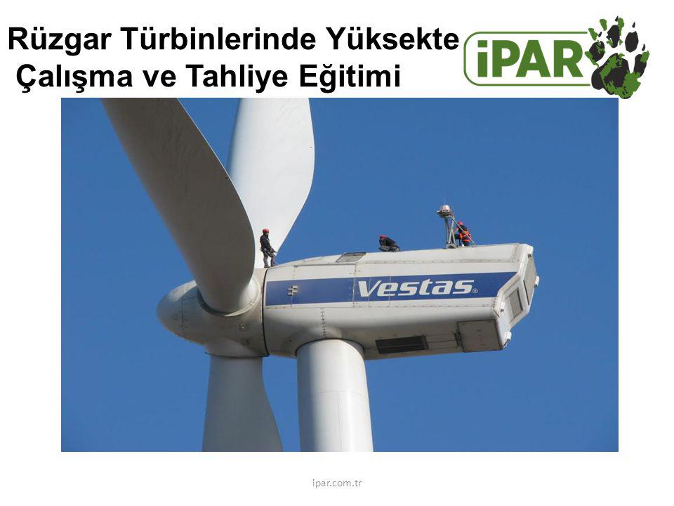 Rüzgar Türbinlerinde Yüksekte Çalışma ve Tahliye Eğitimi