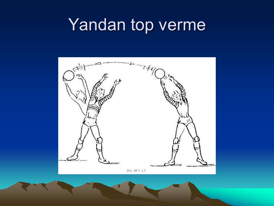 Yandan top verme