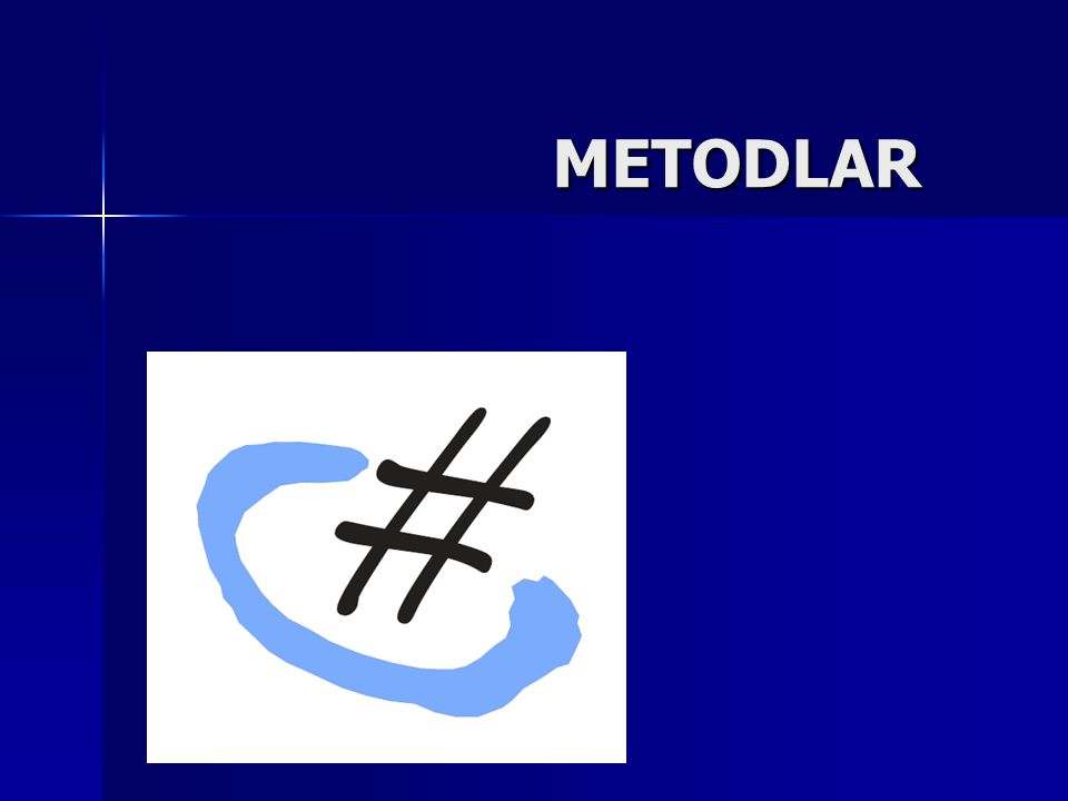 METODLAR