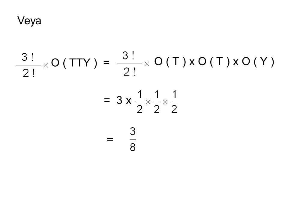 Veya O ( TTY ) = O ( T ) x O ( T ) x O ( Y ) = 3 x
