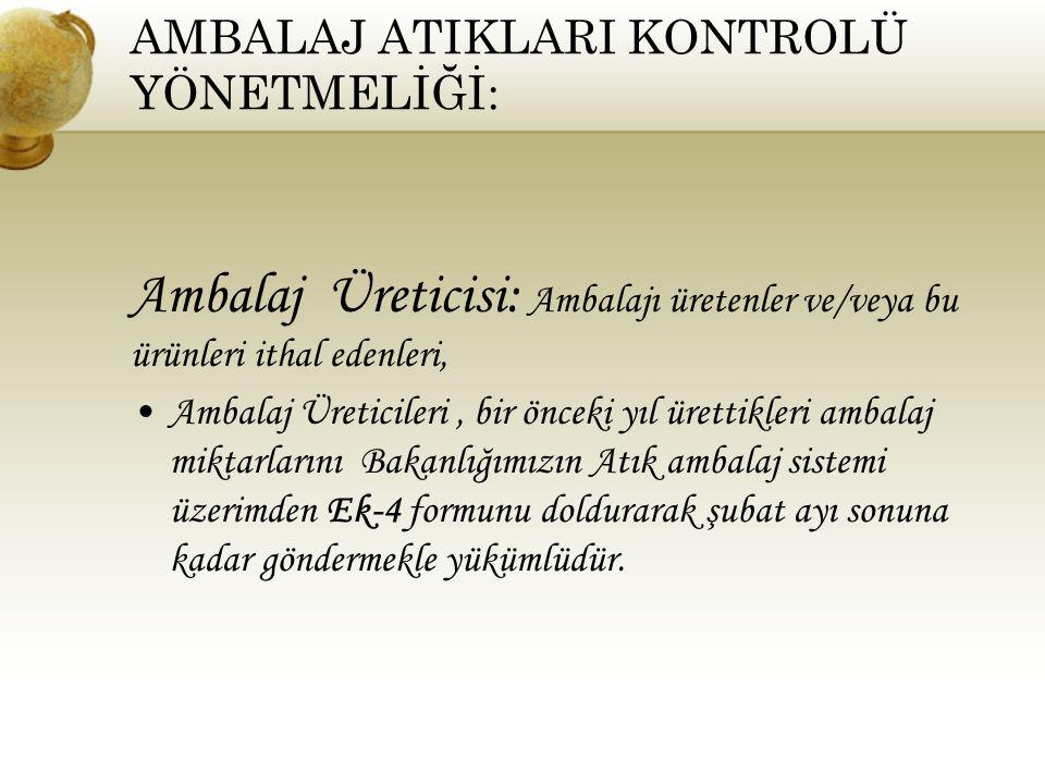AMBALAJ ATIKLARI KONTROLÜ YÖNETMELİĞİ: