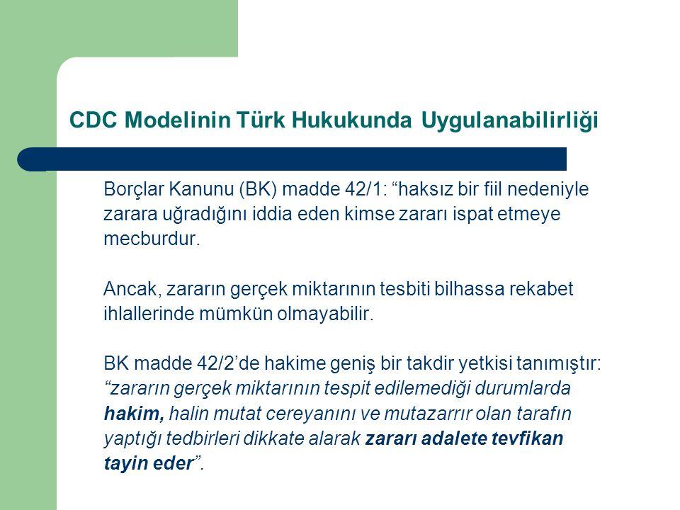 CDC Modelinin Türk Hukukunda Uygulanabilirliği