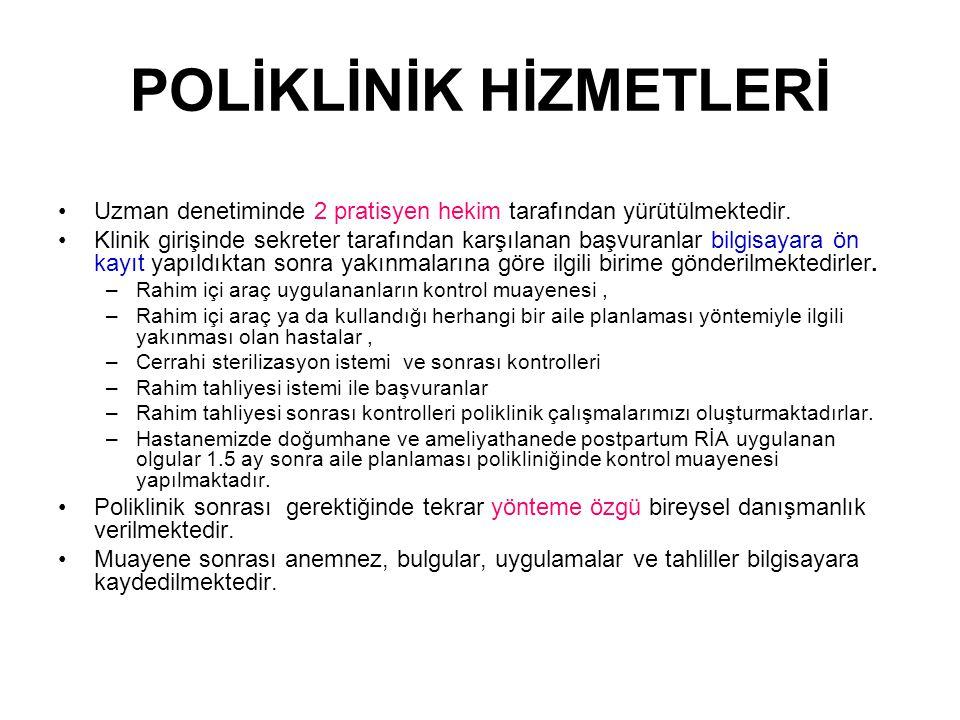 POLİKLİNİK HİZMETLERİ