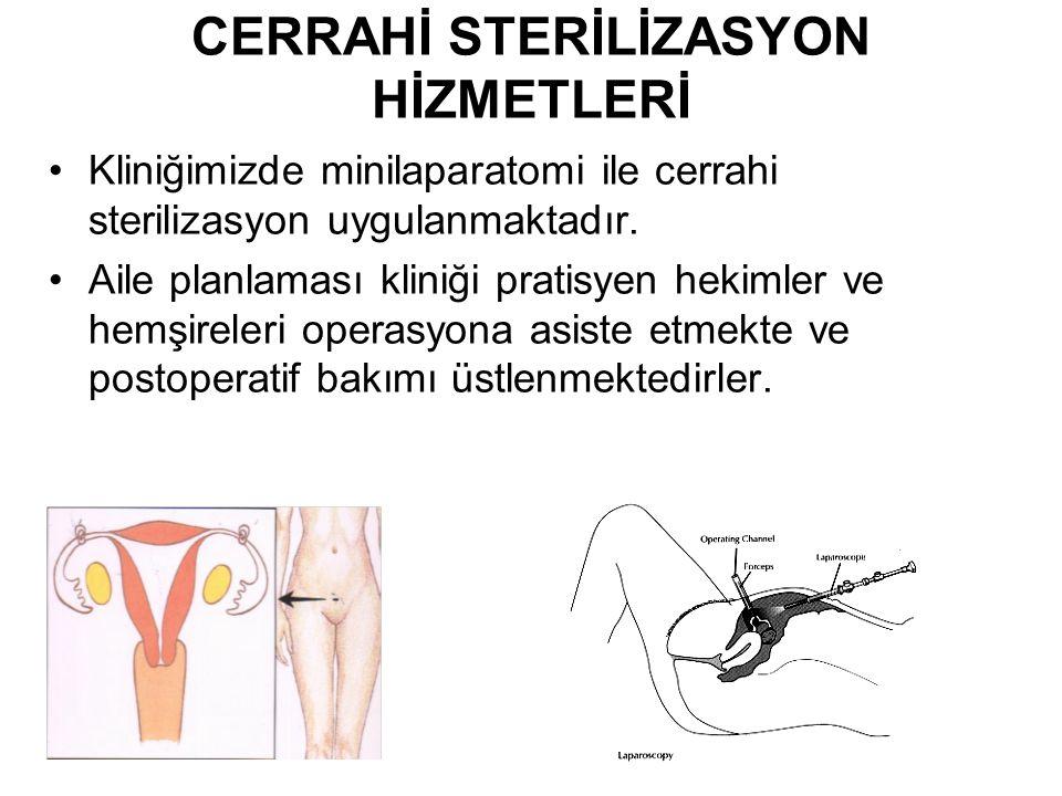CERRAHİ STERİLİZASYON HİZMETLERİ