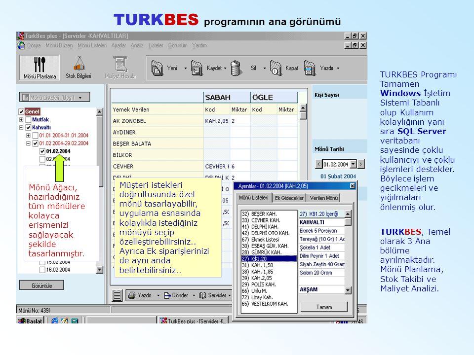 TURKBES programının ana görünümü
