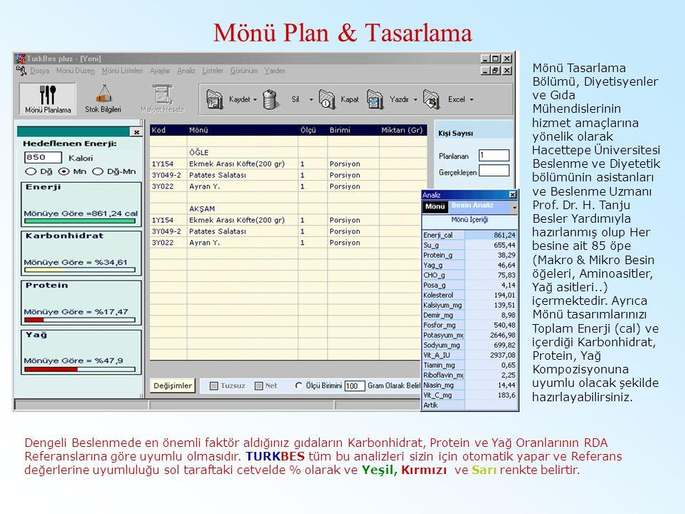 Mönü Plan & Tasarlama