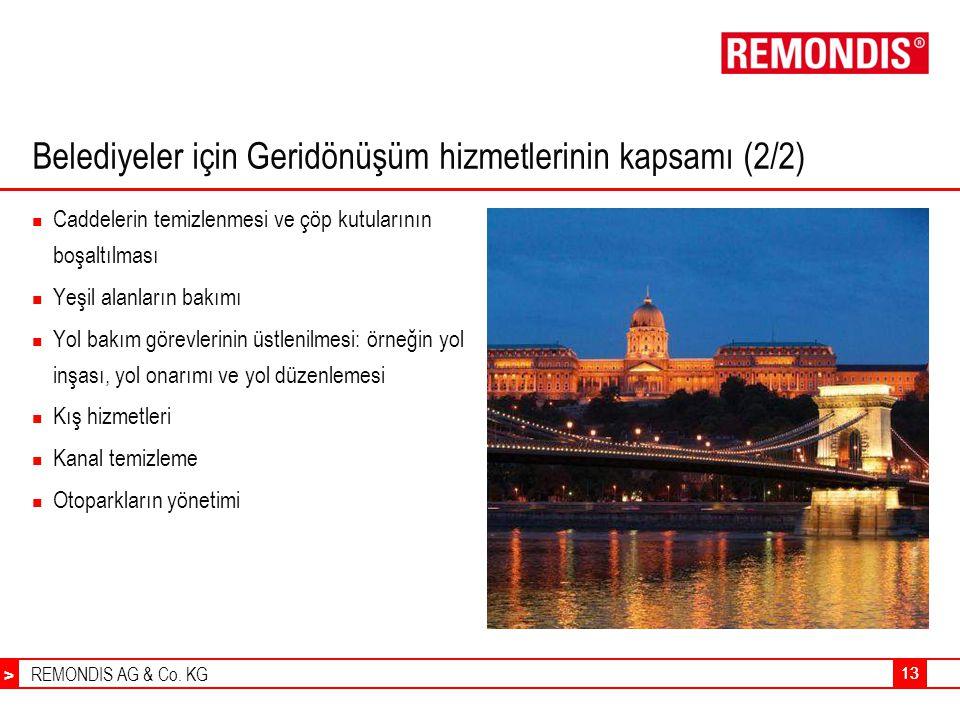 Belediyeler için Geridönüşüm hizmetlerinin kapsamı (2/2)