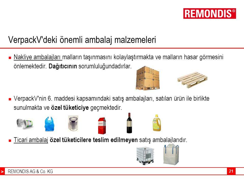 VerpackV deki önemli ambalaj malzemeleri