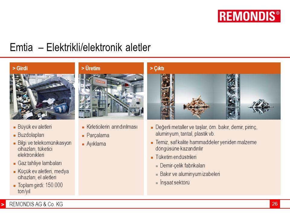 Emtia – Elektrikli/elektronik aletler