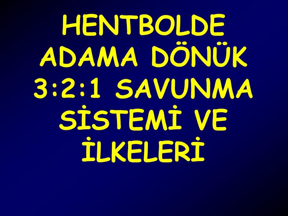 HENTBOLDE ADAMA DÖNÜK 3:2:1 SAVUNMA SİSTEMİ VE İLKELERİ