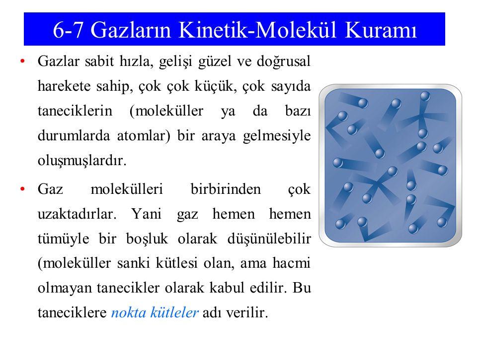 6-7 Gazların Kinetik-Molekül Kuramı
