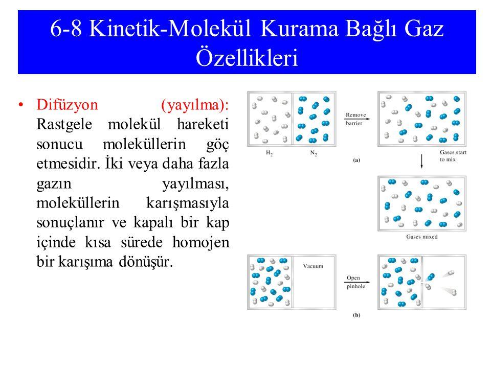 6-8 Kinetik-Molekül Kurama Bağlı Gaz Özellikleri