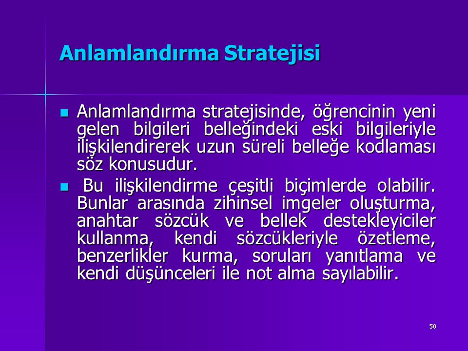 Anlamlandırma Stratejisi