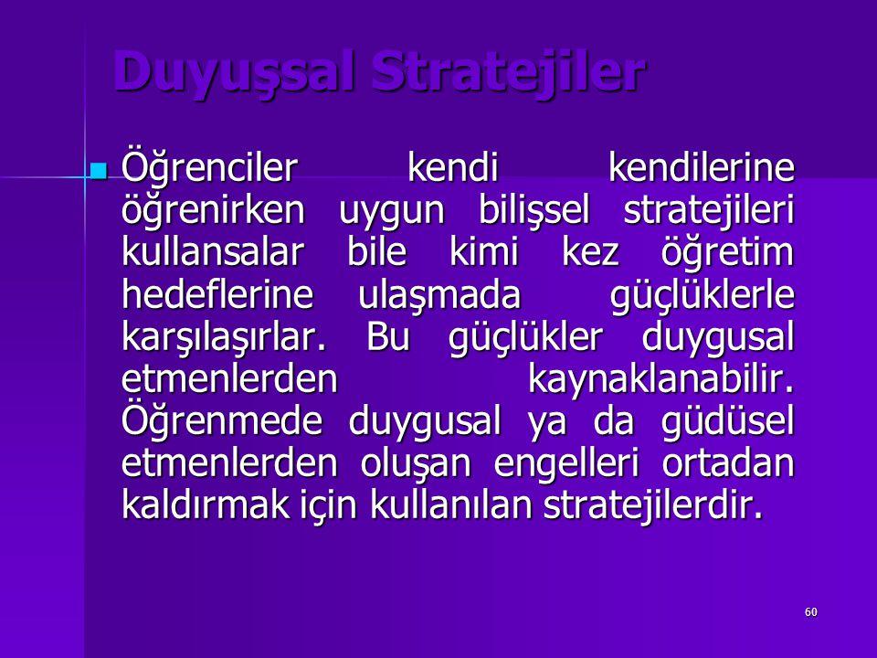 Duyuşsal Stratejiler