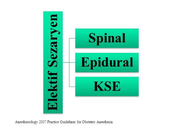 Elektif Sezaryen Spinal Epidural KSE