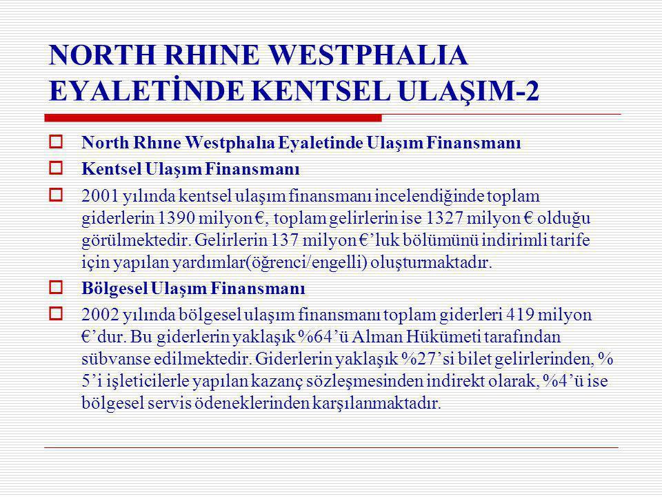 NORTH RHINE WESTPHALIA EYALETİNDE KENTSEL ULAŞIM-2
