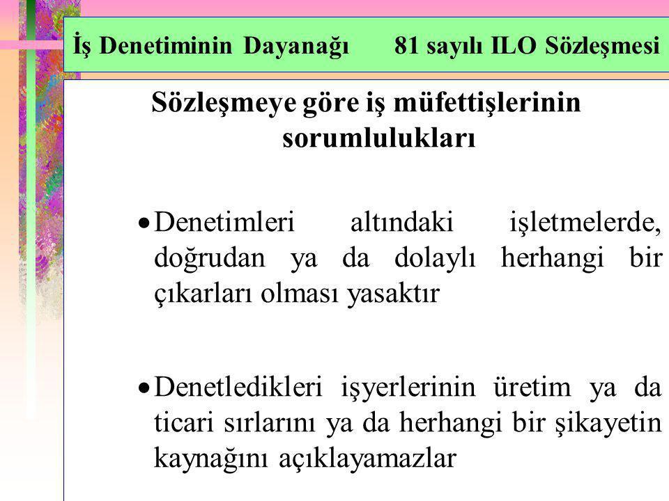 İş Denetiminin Dayanağı 81 sayılı ILO Sözleşmesi