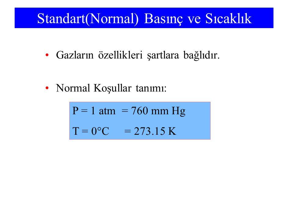 Standart(Normal) Basınç ve Sıcaklık