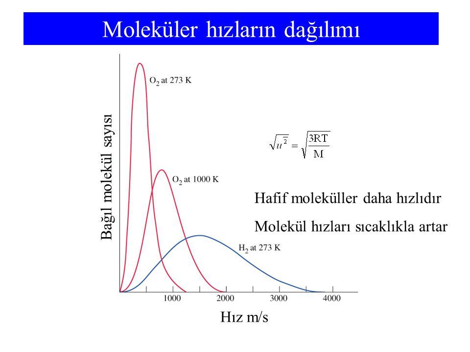 Moleküler hızların dağılımı