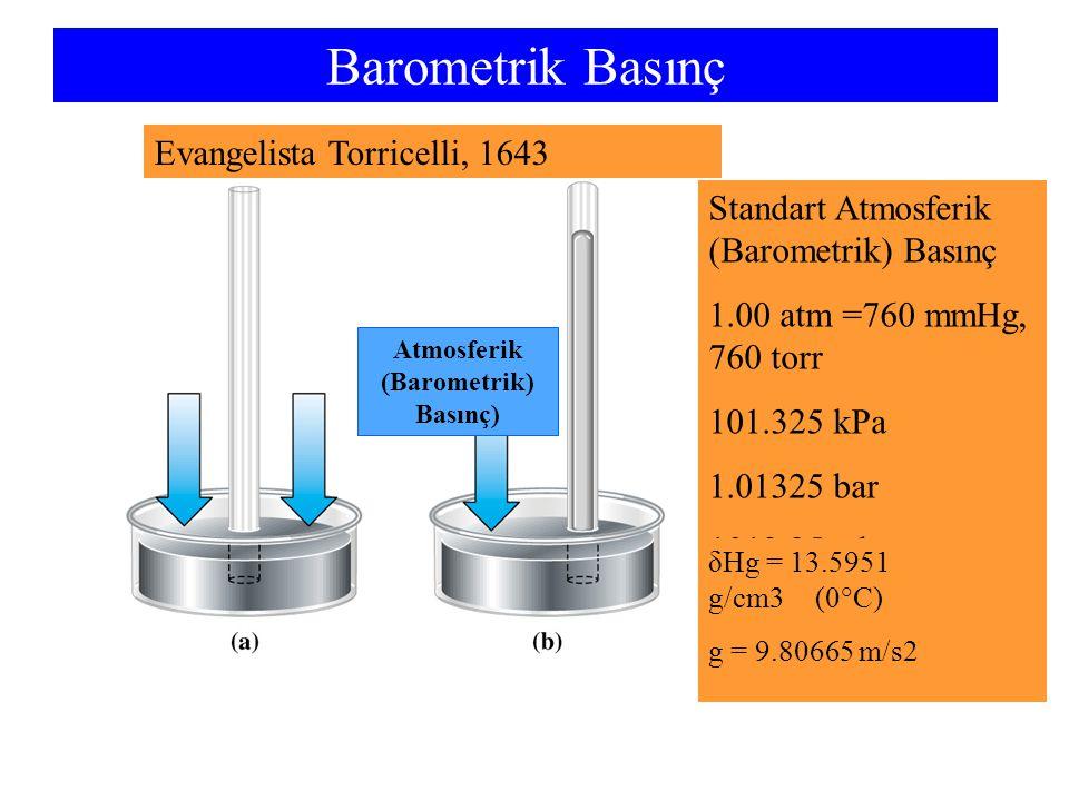 Atmosferik (Barometrik) Basınç)