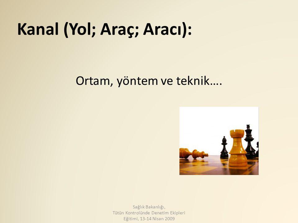 Kanal (Yol; Araç; Aracı):