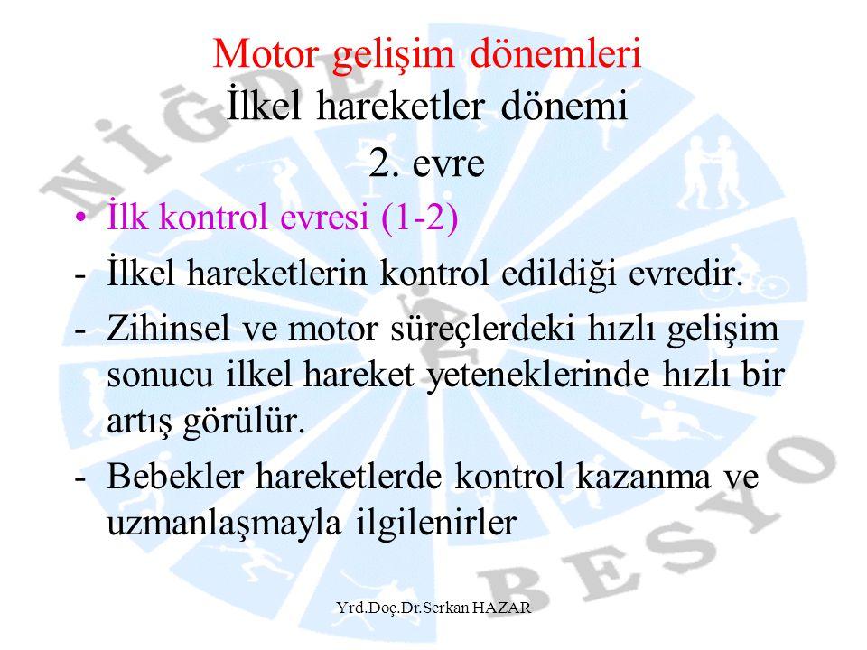 Motor gelişim dönemleri İlkel hareketler dönemi 2. evre