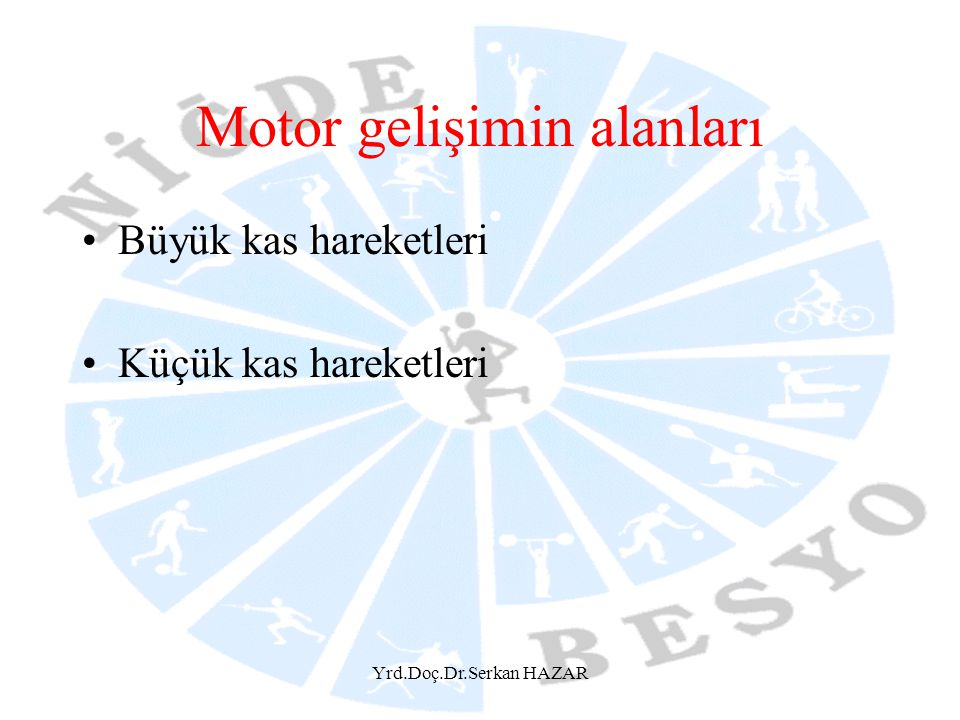 Motor gelişimin alanları