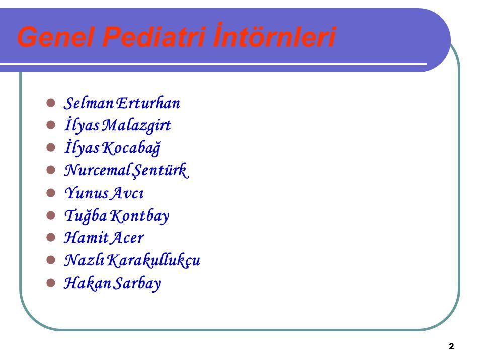 Genel Pediatri İntörnleri
